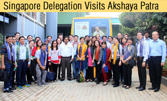 Singapore Delegation Visits The Akshaya Patra Foundation