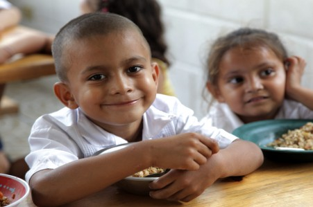 Give Food to Child For Education