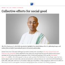 Collective Efforts for Social Good