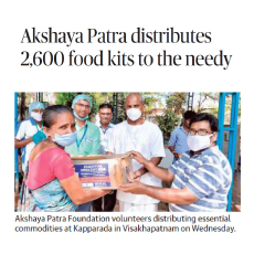 Akshaya Patra's COVID-19 Relief Services in India