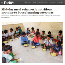 'Mid-day meal scheme: A nutritious promise to boost learning outcomes' by Ms Divya Sathyaraj – Goodwill Ambassador