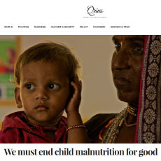 We must end child malnutrition for good