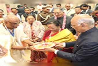 Honorable President of India visits Akshaya Patra's Vrindavan Kitchen