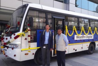 Western Digital donates 32-Seater TATA Star Bus to Akshaya Patra