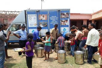 Akshaya Patra's relief effort in Gujarat