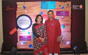 Mr Sanjay Murdeshwar, Managing Director of AstraZeneca with his wife