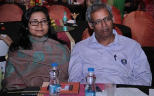Mr Soumitra Bhattacharya, Joint Managing Director of Bosch with his wife Mrs Chandana Bhattacharya