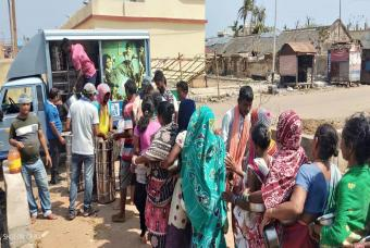 Akshaya Patra's Relief Operations In Cyclone Hit Odisha