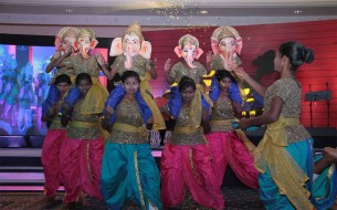 Akshaya Patra beneficiaries from Kodhihalli Government School, Bengaluru, stage an exuberant performance
