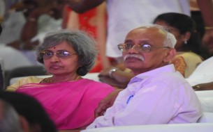 Guests who graced the commemoration of Akshaya Patra's 2 Billion Meals milestone