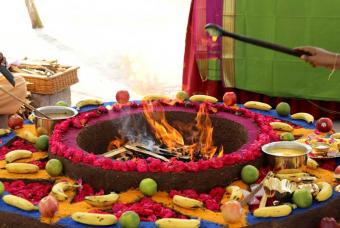 The rituals of the Bhoomi Puja