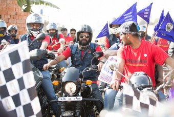 The rally was led by IronHeads biking club