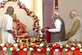 Shri Narendra Modi began the ceremony by paying homage to Srila Prabhupada