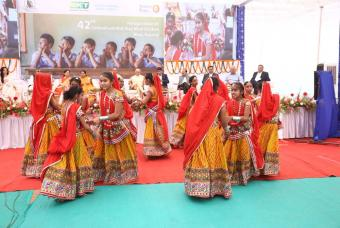 Traditional dance performed by the beneficiary children