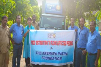 The Akshaya Patra team making this relief operation a reality