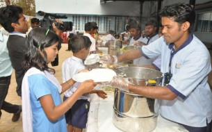 Children Are Served The Nutritious Mid Day Meals