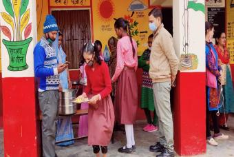 Mid-day meal service resumes