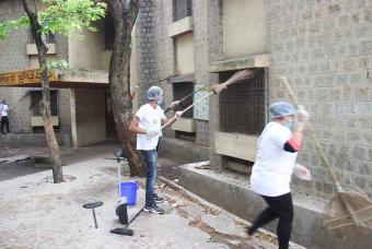 Every corner of the school premises was cleaned