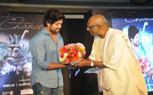 Mr. Yash, Sandalwood actor, being greeted by Shri Madhu Pandit Dasa at the event launch event for extending his support towards the initiative