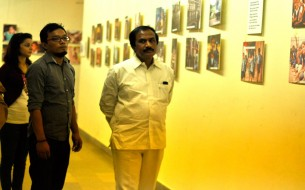 Mr B.L. Shankar observing Gallery