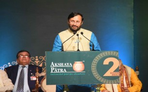 Shri Prakash Javadekar, Honourable Union Minister of Human Resource Development, makes his speech