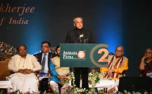 Shri Pranab Mukherjee, Honourable President of India, addresses the gathering
