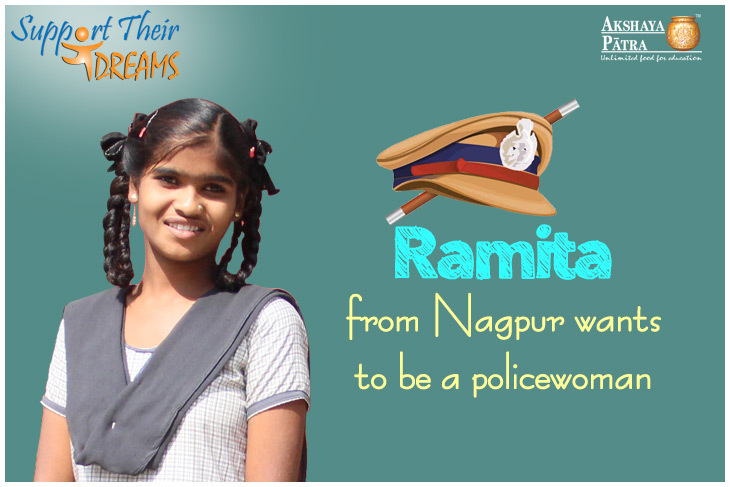 Ramita-beneficiary of Akshaya patra