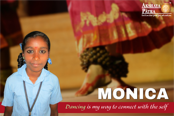 Monica, a Std. VII student of GKHPS, Bengaluru wants to take up Dancing as a profession