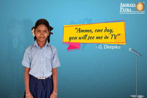 Introducing G. Deepika, the upcoming TV Anchor!