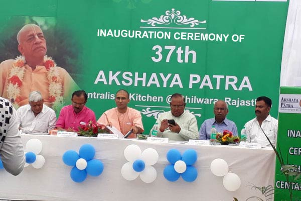 Akshaya Patra opens its 37th kitchen, Bhilwara, Rajastan