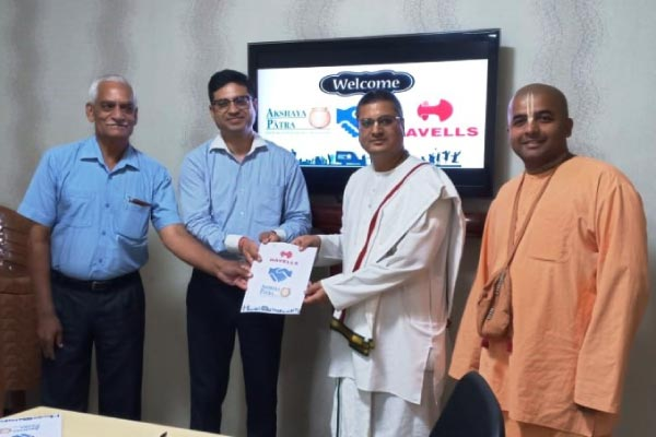 Akshaya Patra signs MoU with Havells for Kitchen, Alwar