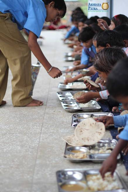 Akshaya Patra mid day meal beneficiaries