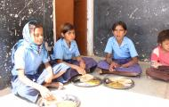 Children Having Mid Day Meal